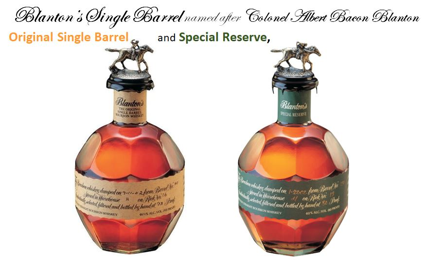 Blanton's Single Barrel makes four Varieties
