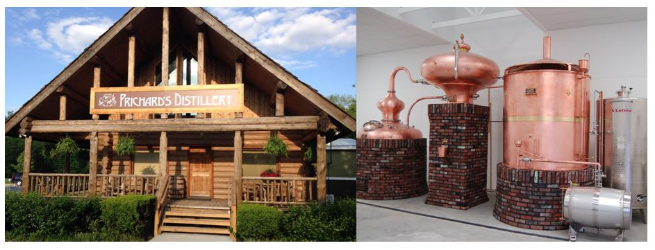 Prichard's at Fontanel   was the distillery's second location that opened in May 2014 in Nashville, Tennessee. The Distillery is built into a small log cabin on the grounds of the Mansion once owned by Country Music Super Star Singer Barbara Mandrell.