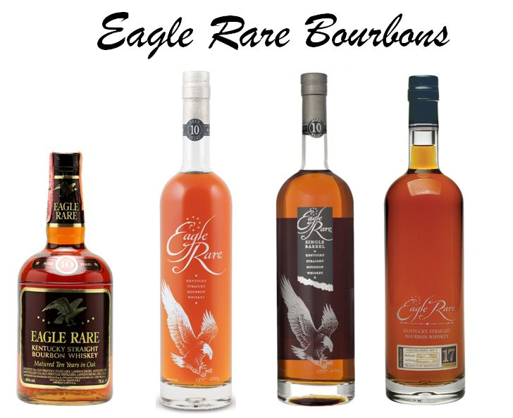 Freddie Johnson espouses the values and great taste of Eagle Rare Brands at the tasting at the end of many of his Tours at Buffalo Trace. Eagle Rare has three current varieties and a former expression (from left to right): 1.)   Eagle Rare 10 year-old   (Old packaging) 101 Proof, 2.)   Eagle Rare Small Batch 10 year-old   (Buffalo Trace's Top Selling Super Premium Brand), 3.)   Eagle Rare Single Barrel   and     4.)   Eagle Rare Antique Collection 17 year-old   (Part of the Buffalo Trace Antique Coolection).