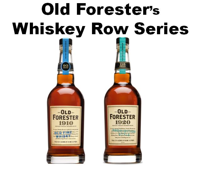 These are the two versions of Old Forester that were produced during the time of Owsley Brown, I's tenure. They are: 1.)   Old Forester 1910 Old Fine Whisky   and 2.)   Old Forester 1920 Prohibition Style.