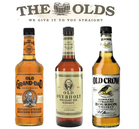 """""""The Olds,""""   is a group of three of the Oldest brands in the country. They were purchased by the   James B. Beam Distilling Company   in 1987 when they acquired the spirits division of  the National Distillers."""