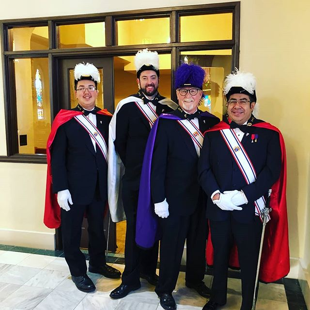One day after our #saintpatricksday festival, Assembly 87 collected Sir Knights from multiple Councils to msrch at St Joseph's Church in downtown Denver for Mass, procession, and festival. #livingtheknightlife #kofc #knightsofcolumbus  @cokofc