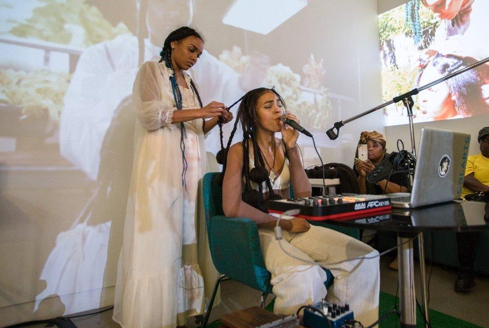 Kiara Lanier and Shani Crowe UICA Event