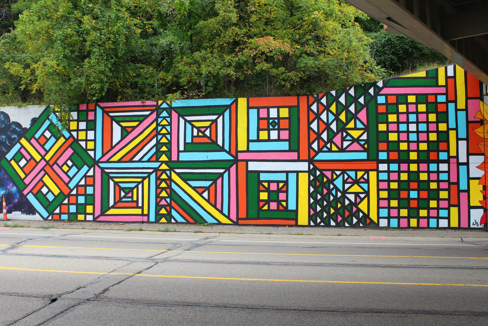 Grand Rapids Quilt, 2015, Exterior Paint. N. Division St.