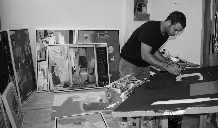 UICA Artist Feature Nick Castillion Working