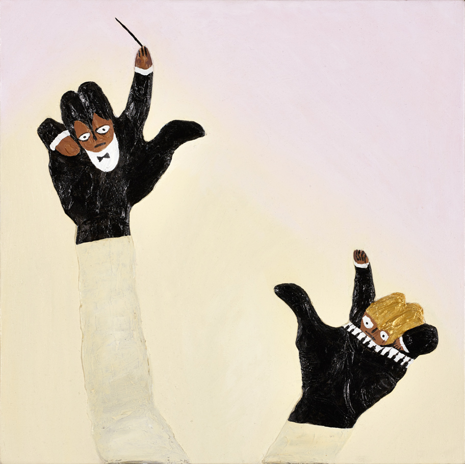 "Jazz Hands Gina Beavers 2012 Acrylic on canvas 24"" x 24"""