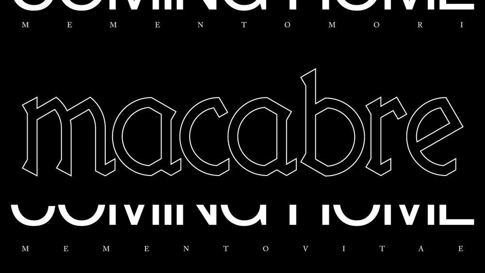 macabre exhibition graphic