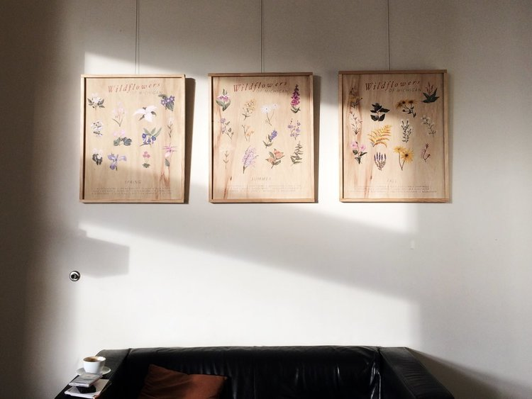 Vanessa DeCouto's recent exhibition at  MadCap Coffee