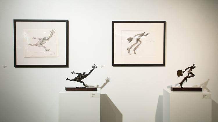 Kirk Newman print and bronze suites