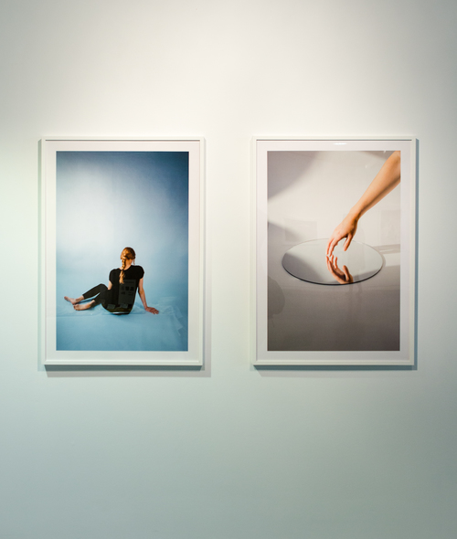 Two photographs from Portraits by James LaCroix
