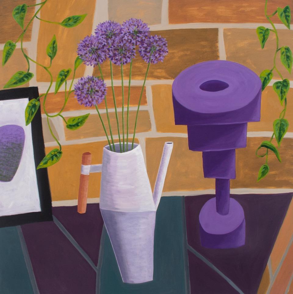 Purple Play, 2017, oil on canvas