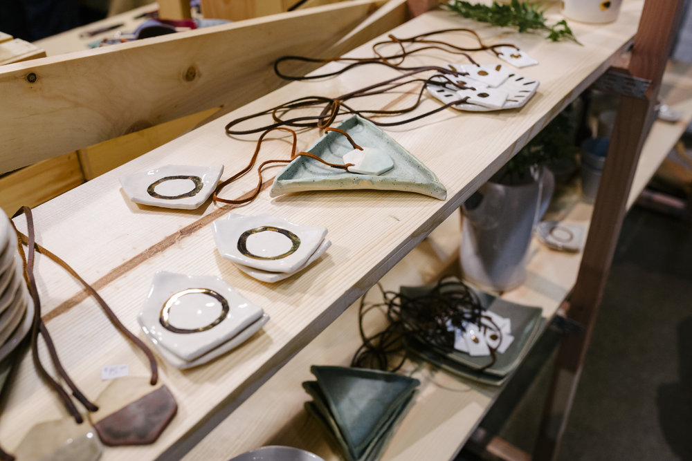 Ceramic Goods sold at the UICA Holiday Artists Market