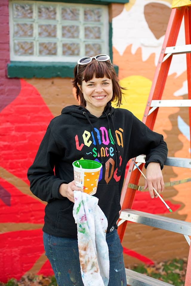 Kelly Allen, Exit Space Project Mural at Lincoln Park