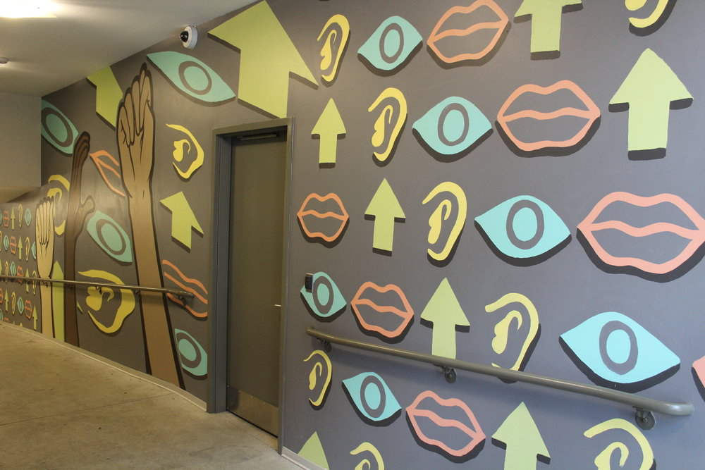 Artworks mural in 8 Commerce Parking Ramp