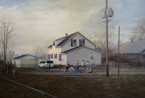 PAT PERRY  GRAND RAPIDS FAMILY, PAINTING
