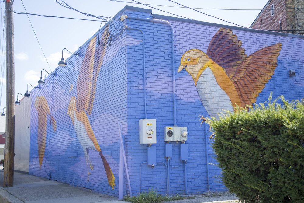 Nick Nortier mural in Creston