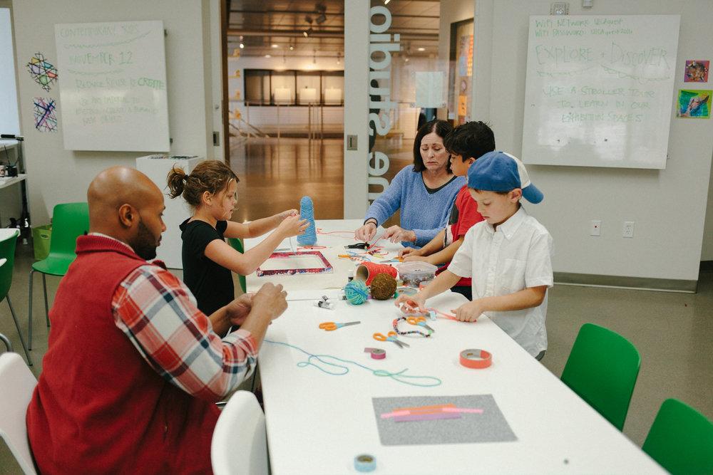 Families make art at UICA