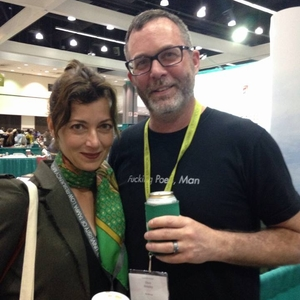 Mia Sara with Barrelhouse editor Dave Housley at AWP 2016. Not Mike Ingram. Sorry, Mike.