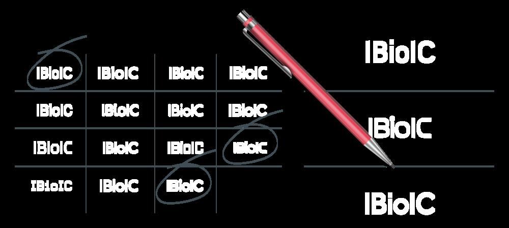 IBioIC Typography