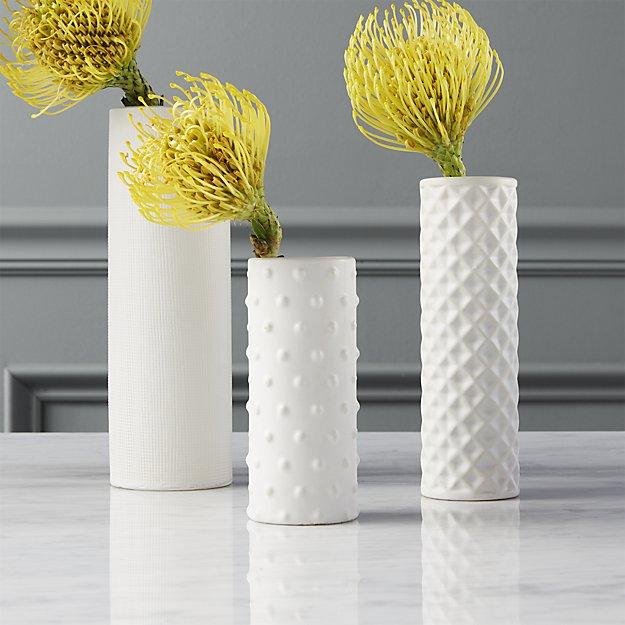 White Modern Bud Vases An Affair To Remember