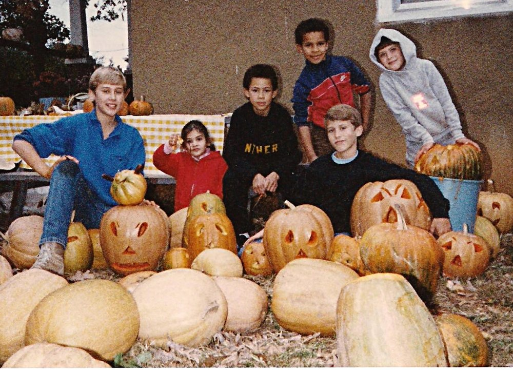 THE FIFTH GENERATION OF PUMPKIN FARMERS (DERECK EVANS BOTTOM RIGHT)