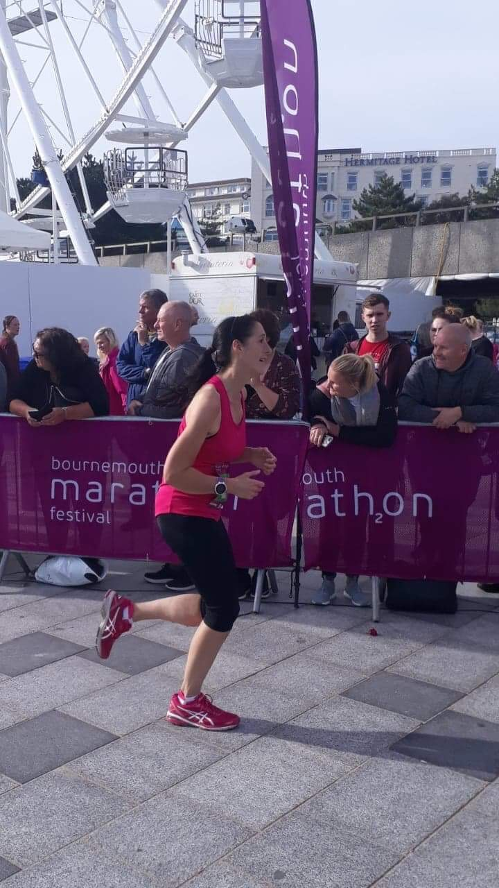 That finish line was the only thing I was aware of (thank you Tracey for the photo)