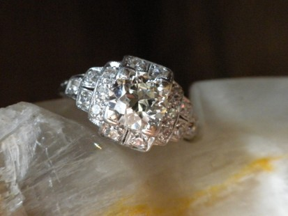 deco diamond ring