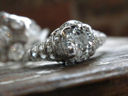filligree engagement ring