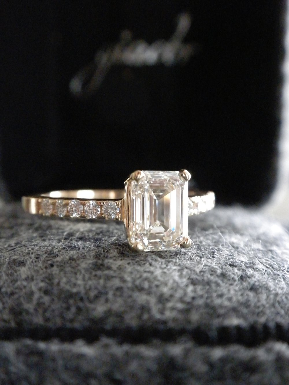 Simple emerald cut