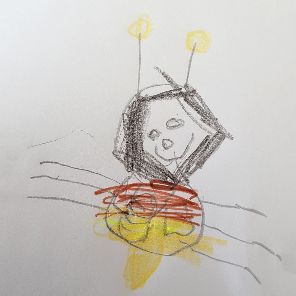 diese schöne Biene hat Isabell gemalt