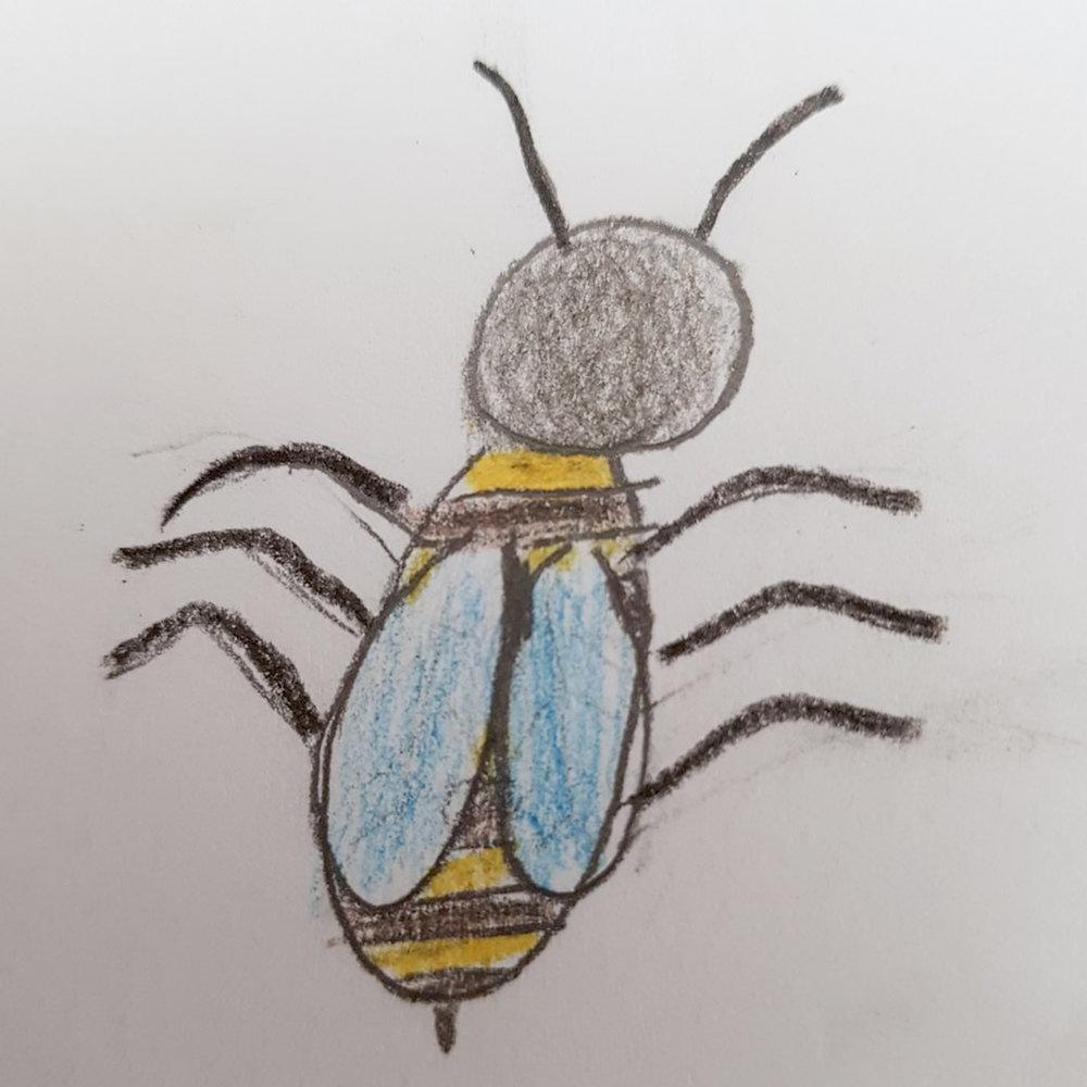 von der lieben Rebecca kommt diese Biene