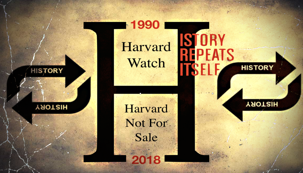 "In 1990, when Harvard was in the process of selecting a new President, Harvard students and alumni rallied together to crest Harvard Watch. According to its founders, Harvard Watch was ""a broad-based coalition of students and alumni across the University's schools concerned with corporate governance at Harvard."" Sound familiar?"