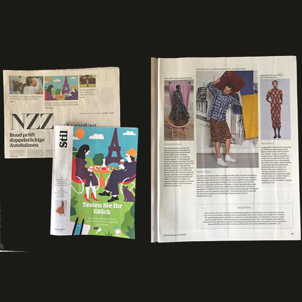 HOI AFRIKA! - Wachsdruck-Stoffe und Batikmuster aus Westafrika inspirieren Zürcher Designer diesen Sommer.Ausgewählte Kleider und Accessoires aus Afrika präsentiert die Zürcher Agentur Hanimanns. Die Frau hinter dem Projekt, Melanie Hanimann, kommt aus dem Marketingbereich - und hat vor einigen Jahren ihr Herz an Ghana verloren, wo sie zeitweise auch lebt. Aus dieser Leidenschaften ist dann der Gedanke entstanden afrikanische Modemacher und Marken in Europa bekannt zu machen. Zusammen mit ihrem Geschäftspartner Nana Kwasi Wiafe knüpft sie darum mit ihrer Agentur Kontakte für westafrikanische Designer und vertritt diese in Europa.