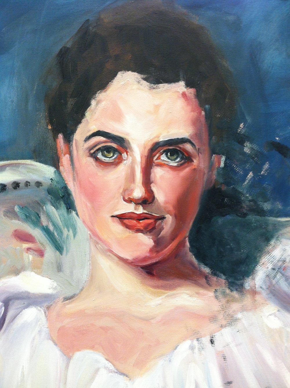 Lady Agnew after John Singer Sargent