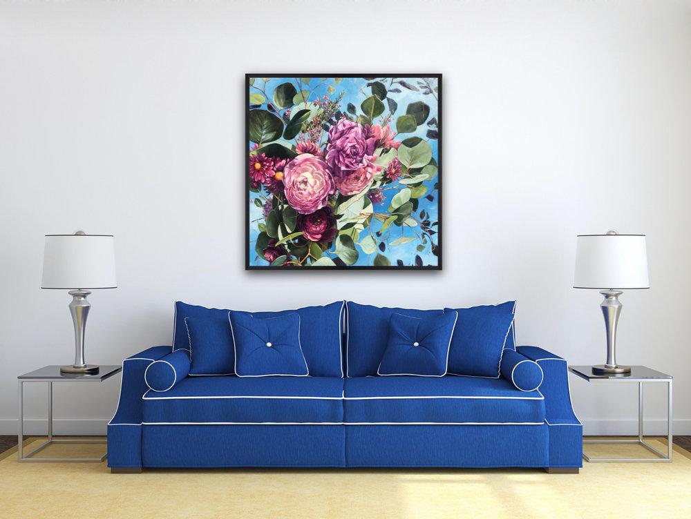 "Ranunculus Bouquet 36""x36"""