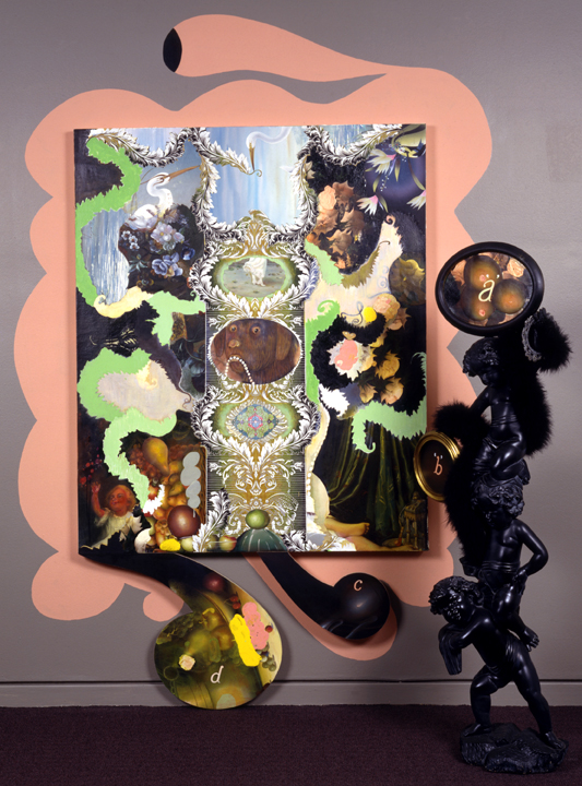 "One Hand in the Darkness, 67"" × 45"", mixed media on canvas, 1998"