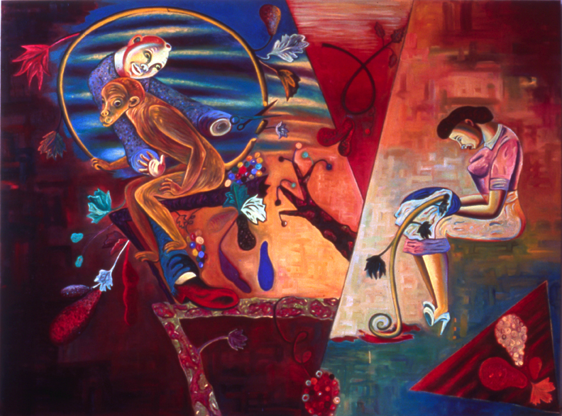 "Preserving the Species, 72"" × 96"", oil on canvas, 1989"