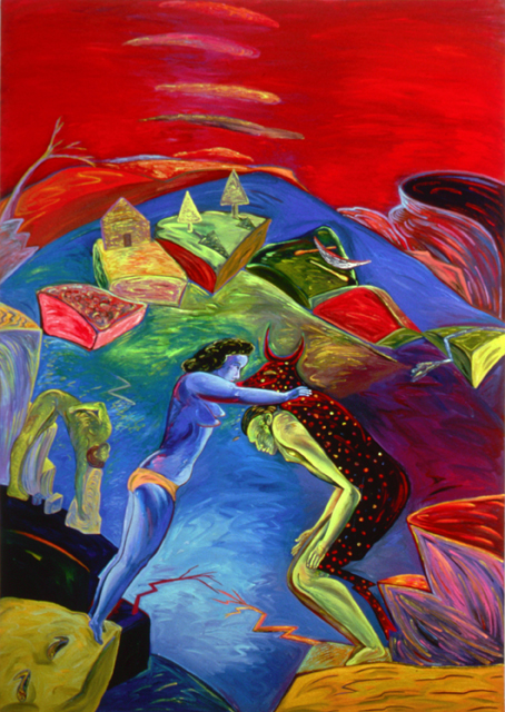 "Shaking Still II, 96"" × 72"", oil on canvas, 1985"