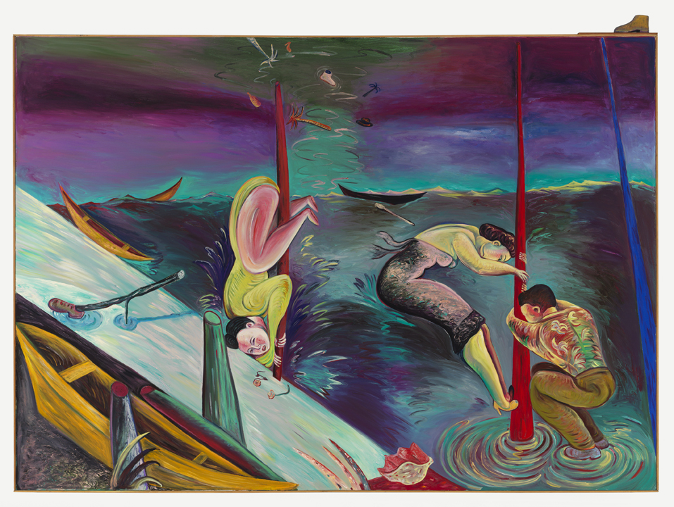 "Shipwrecked, 72"" × 96"", oil on canvas, 1987"