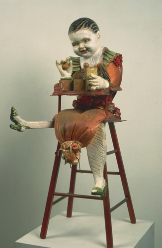 "Baby Heidi Chair, 37"" × 17"" × 15"", mixed media, 1974"