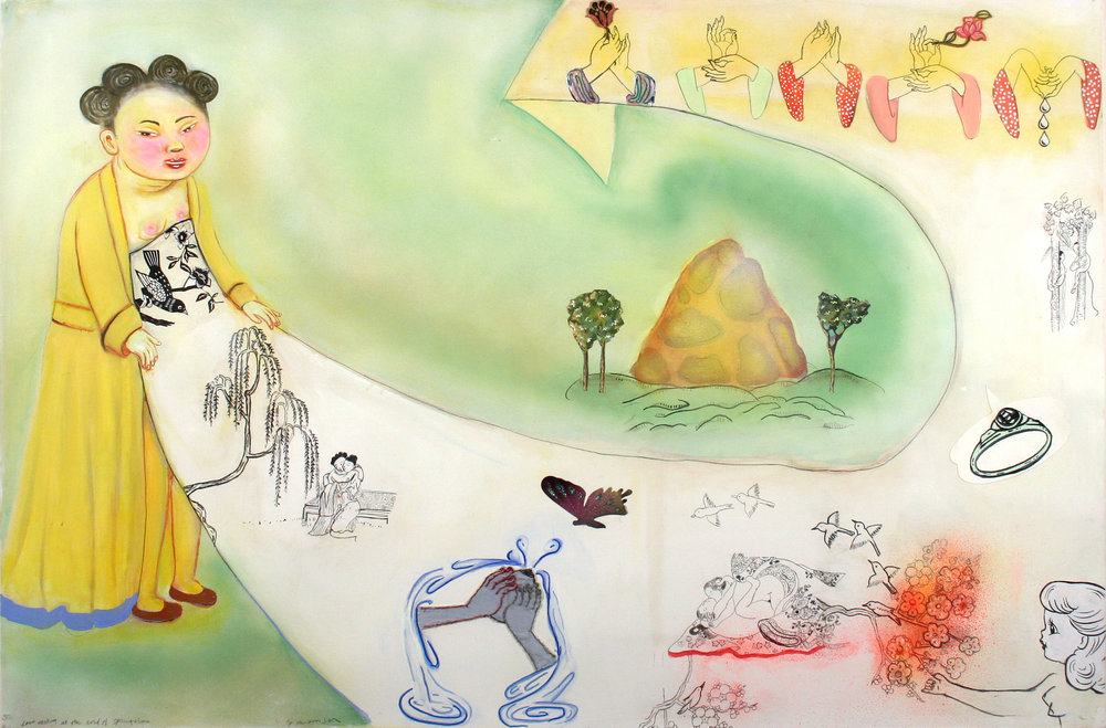 "Study for Lovemaking at the end of Springtime, 38"" × 57"", mixed media on paper, 2006"