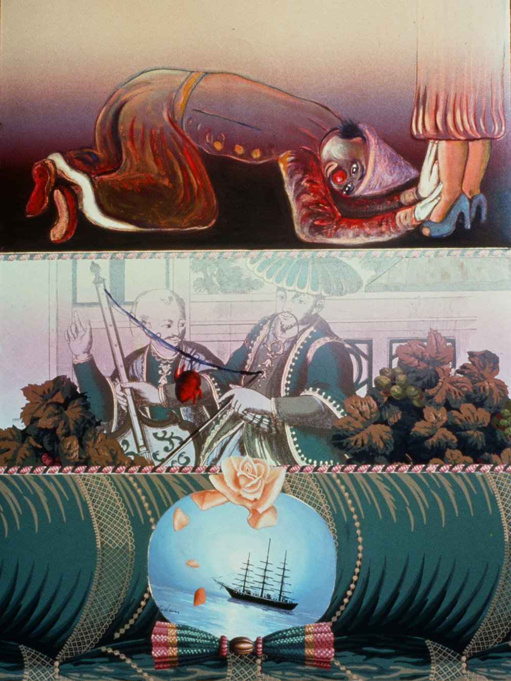 "Good Companion, 41"" × 29"", mixed media monoprint, 1992"