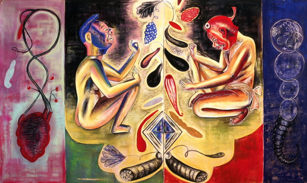 "False Rapture, 50"" × 84"", pastel on paper, 1988"
