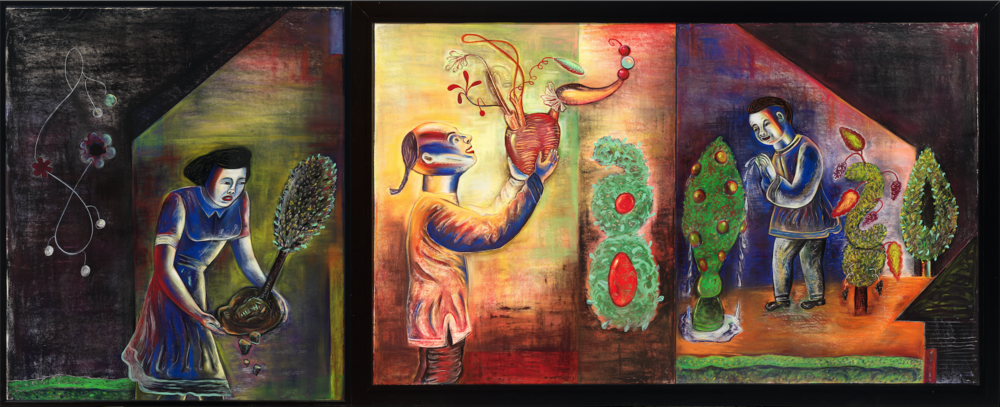 "Going from One Place to Another, 42"" × 126"", pastel on paper, 1989"
