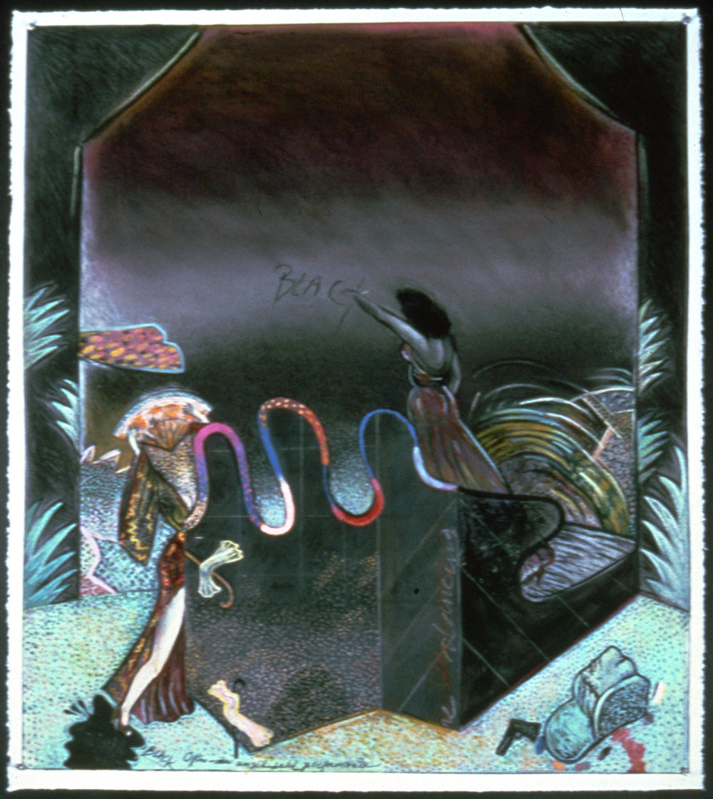 "Black Magic 2, 45"" × 38"", pastel on paper, 1979"