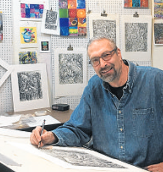 Phyllis Bramson's art inspires Valparaiso University art professor Robert Sirko during his cancer recovery -