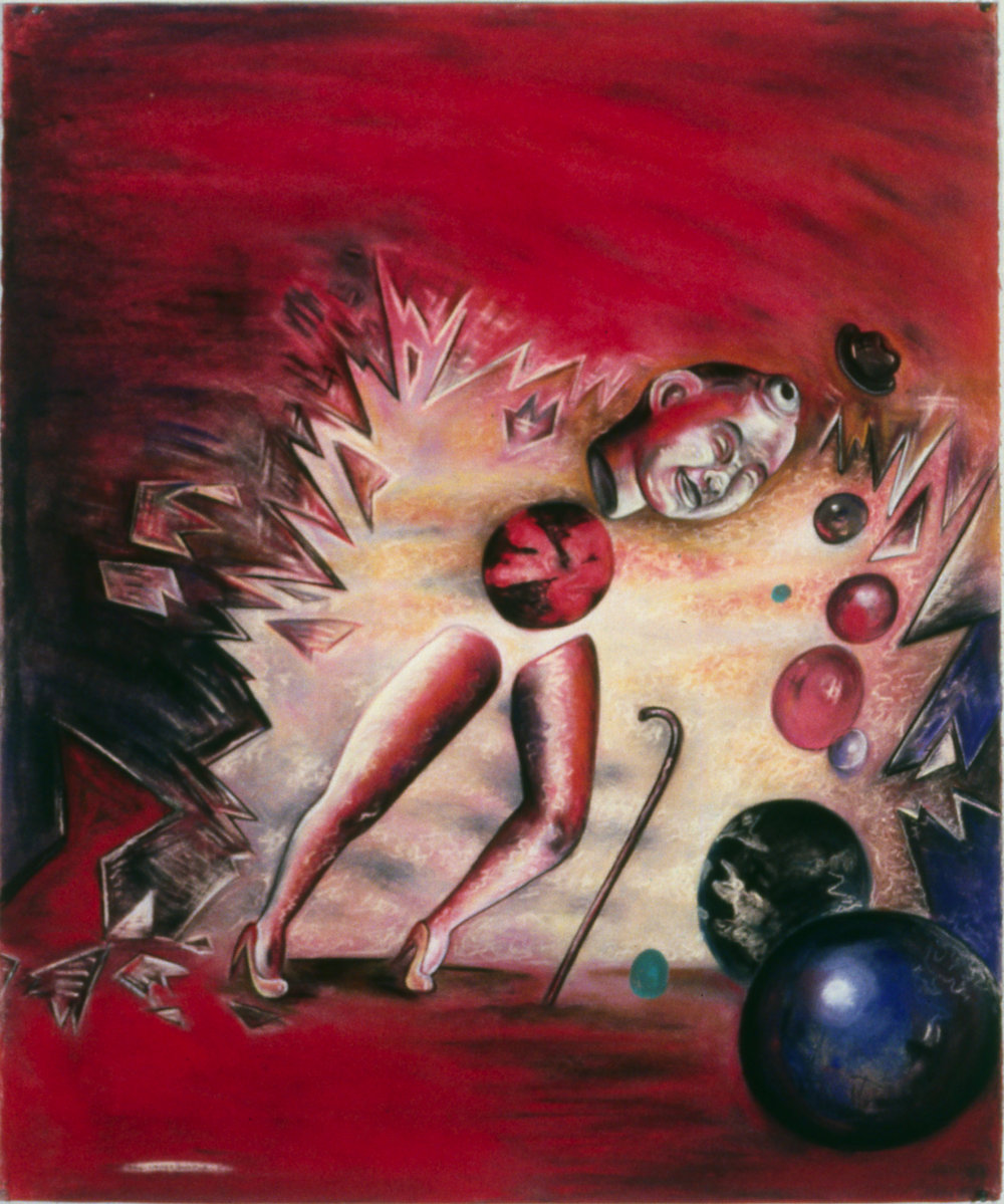 "Impersonator I, 50"" x 42"", pastel on paper, 1988"