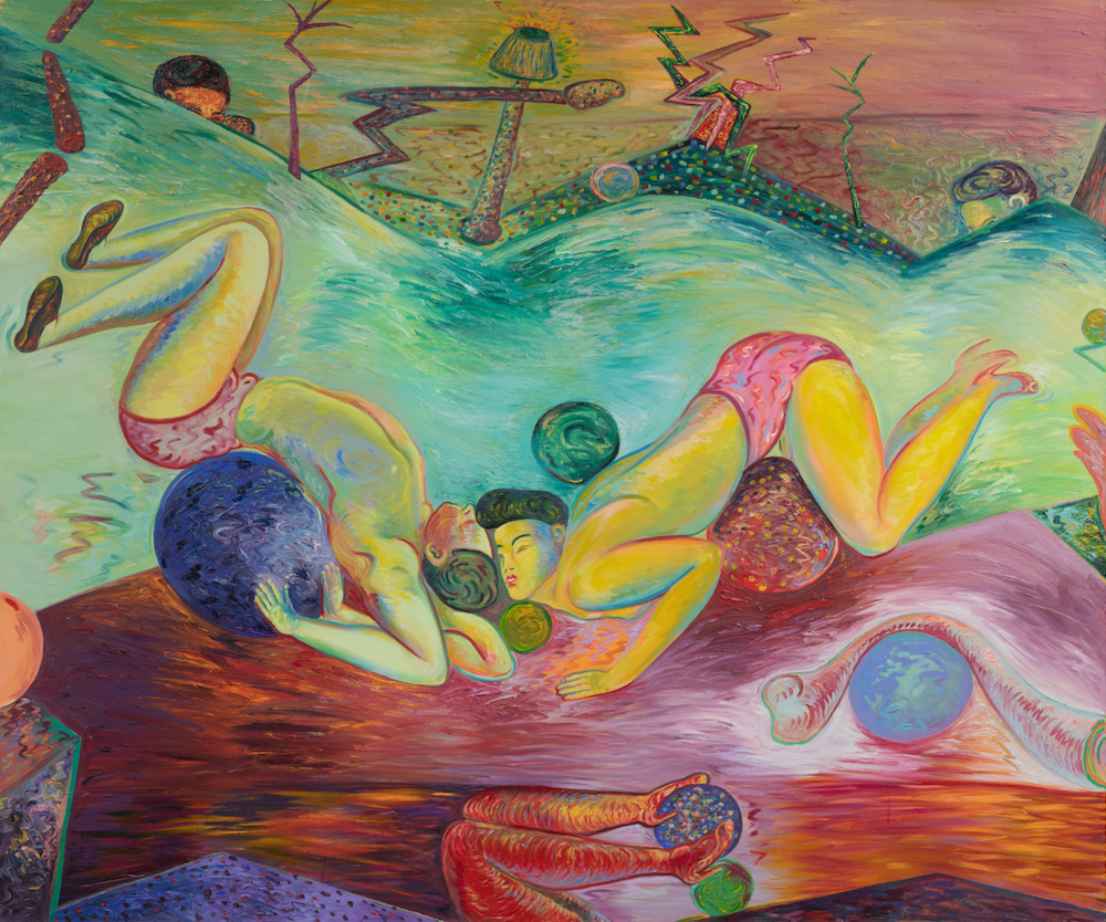 "Acts of Ardor, 60"" × 72"", oil on canvas, 1984"