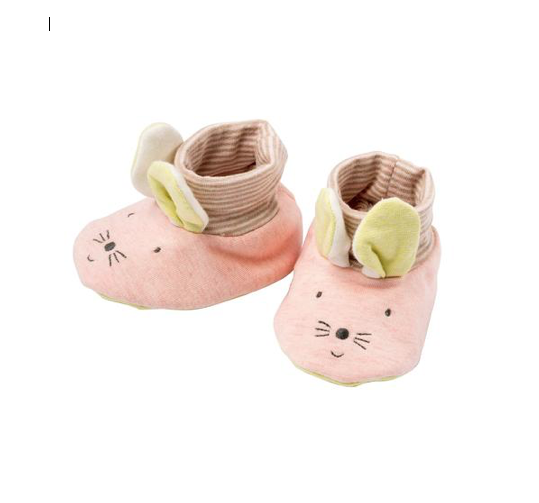 Pink Rabbit Slippers — Baby Clothes