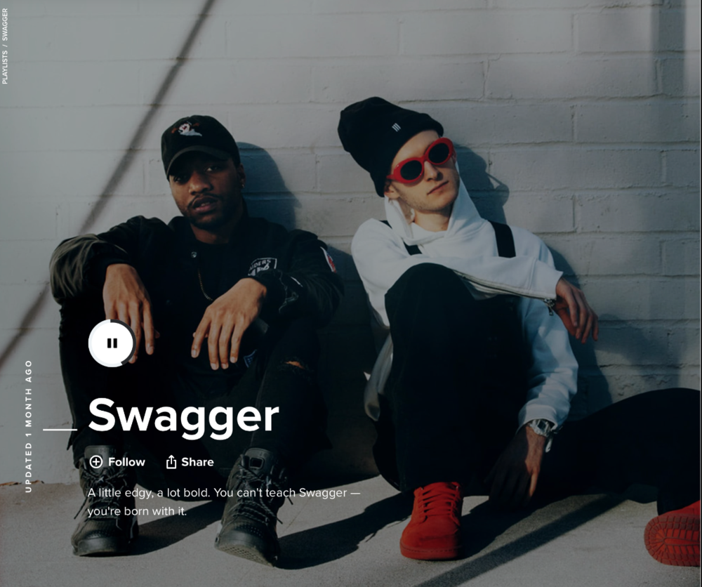 SWAGGER - SPOTIFY, MUSICBED